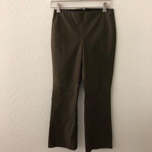 Theory green olive pants